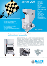 Machine-side-granulators - Series 200 - Processing of PET preforms and PET bottles