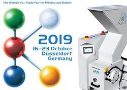 Besuchen Sie uns! K'19 Messe in Düsseldorf