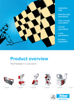 Product overview - Granulators, beside-the-machine & ancillary equipment