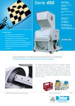 Zentralmühlen - Serie 450 - Vermahlung von Hohlkörpern