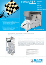 Punched skeleton processing - Series RST Thermoform - Efficient punched skeleton processing Edge stripes recycling