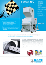 Slow running granulators - Series 450 - High performance for voluminous parts