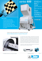 Slow running granulators - Series 600 - The Mega-series for highest demands
