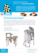 Zubehör- Entstaubungsanlagen - für staubfreie Granulate