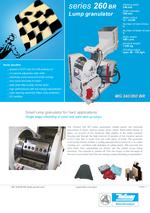 Start up lump granulators - Series 260 BR - Small lump granulator