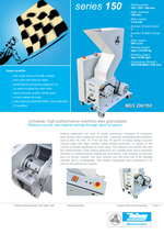 Machine-side-granulators - Series 150 - Raw material savings through return of sprues