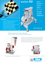 Punched skeleton processing - Series RS - Feeding equipment for film edge strips