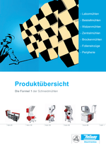 Produktübersicht- Beistellmühlen, Schneidmühlen & Peripherie