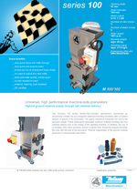 Laboratory mills Series 100 - - Highest ground material quality through fast material delivery