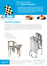 Suction plants - for dust-free regrind Film cutters